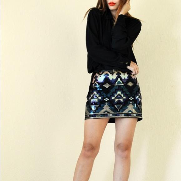 31% off Express Dresses & Skirts - Sequin Express Tribal Mini ...
