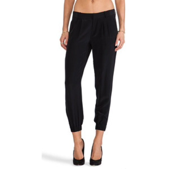 70% off Joie Pants - STILL AVAILABLE! NWT Joie black silk jogger ...