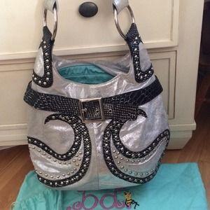 Fergie Handbags - Fergie - Metallic Studded Bag- Fergie