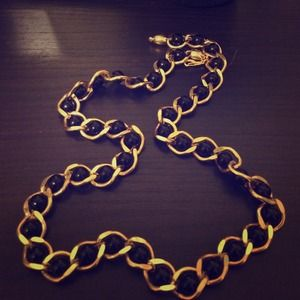 Chain black ball necklace