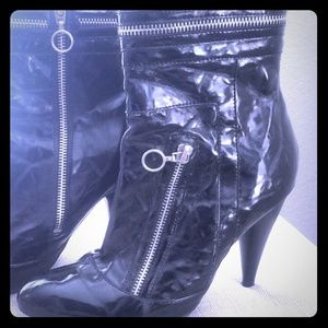 Chinese Laundry Patent Leather Ankle Boots - #018