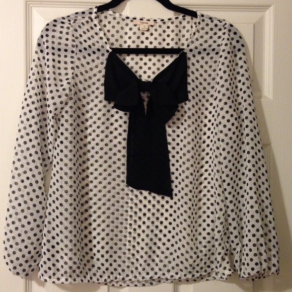 Timing Tops - Polka dot sheer blouse