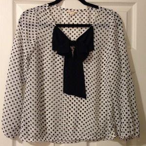 Timing Tops - Polka dot sheer blouse