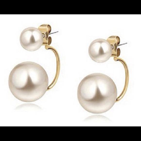 Jewelry Tribal Pearl Earring Double Pearl Earrings