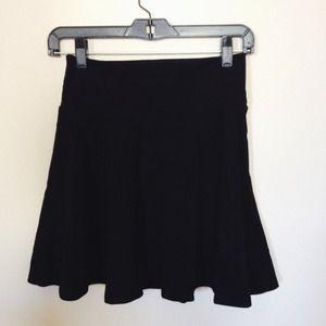 F21 Black Skater Skirt