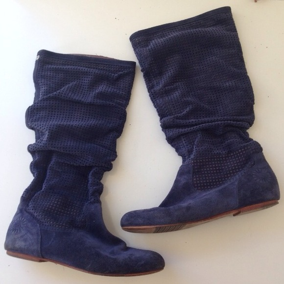 74 Off Ugg Boots Ugg 1947 Suede Navy Tall Slouch Boots