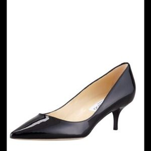 SALE!  Jimmy Choo Aza black patent pumps