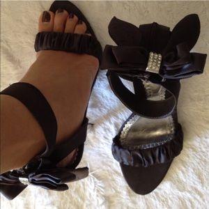 Sexy bow ribbon sandal heels