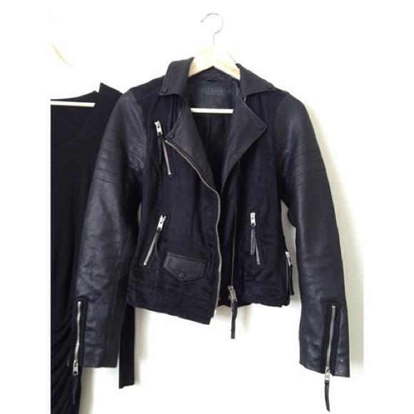 ‼️3xHP! Allsaints Landers leather biker jacket