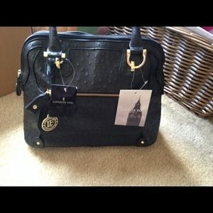 london fog blue ostrich purse