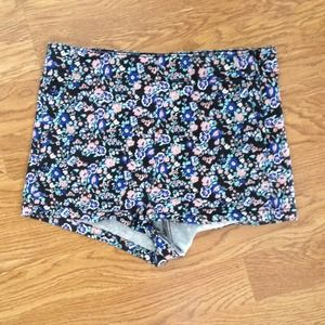 H&M High-Waist Floral Shorts