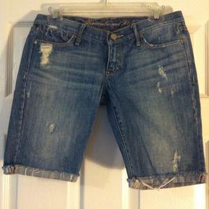ABERCROMBIE & FITCH Denim Bermuda Shorts, Sz 2