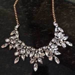 NWT Crystal statement necklace