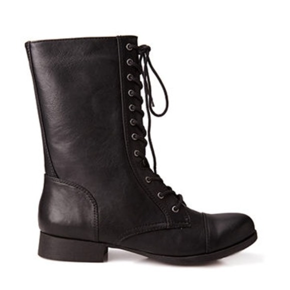 33% off Forever 21 Shoes - Cute Everyday Black Combat ...