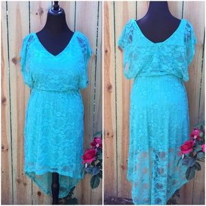 Hilow Seafoam Green Lace Dress