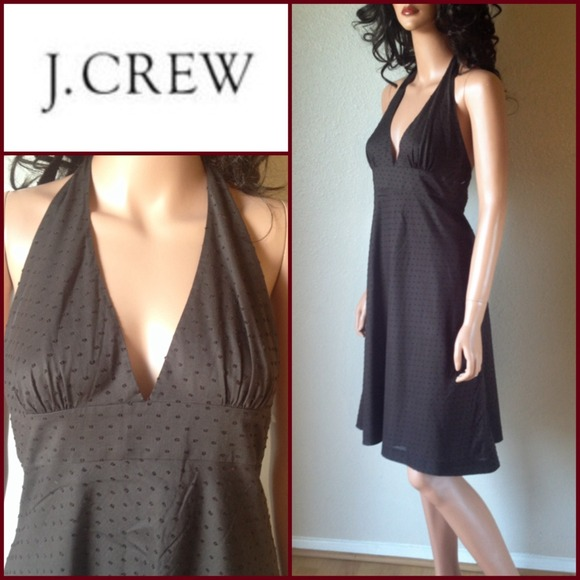 J Crew Brown Halter Dress Sz