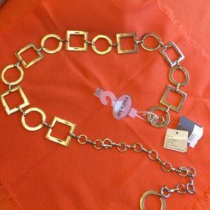 Merona Abstract Belt (Silver)