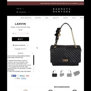 Lanvin Happy Shoulder Bag Large