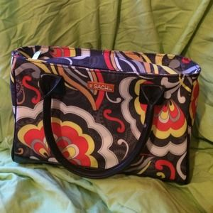 Sachi Ladies Insulated Lunch Tote Mod Flowers