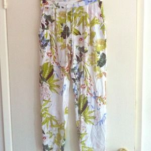Tropical floral pants