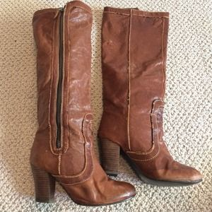 Jeffrey Campbell Shoes - Jeffrey Cambell brown leather zip up boots