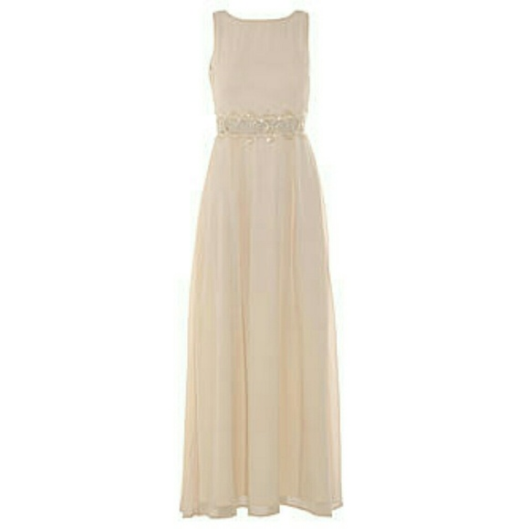 Cream color long dresses