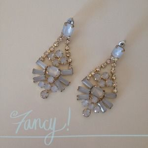 Light Blue Crystal Earrings