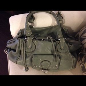 Chloe large gray paddington bag