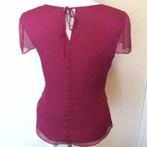 Banana Republic Tops - 100% silk blouse, berry color, sz 4.