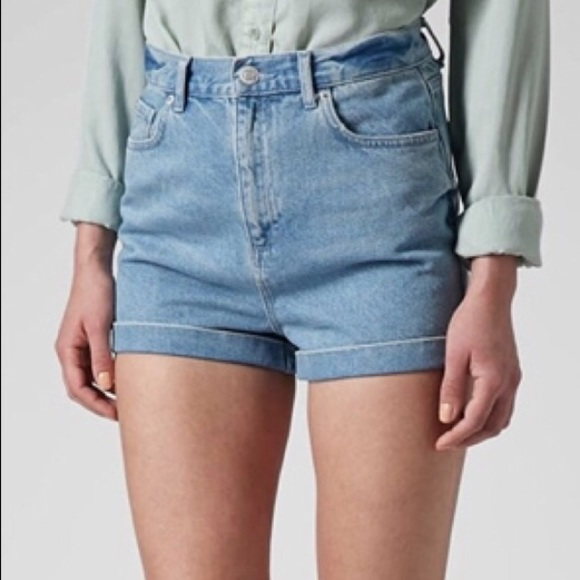 25% off Topshop Pants - TOPSHOP MOTO Mom high waisted Jean shorts ...