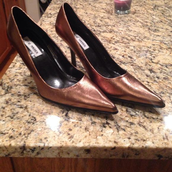 Steve Madden Copper heels size 9.5