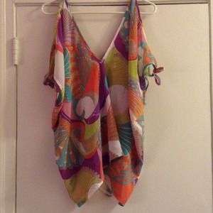 Josh Brody Tops - Multi-colored Shawl