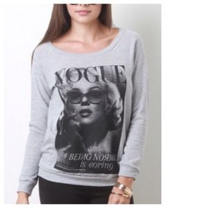 Marilyn Monroe Iconic Grey Sweatshirt