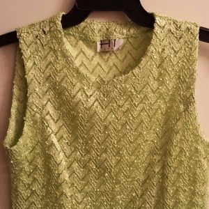 Bright neon green summer top