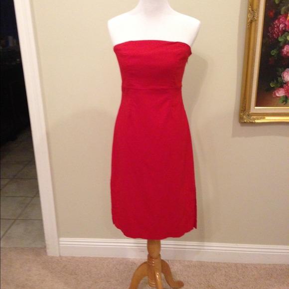 Express Dresses | Red Strapless Dress