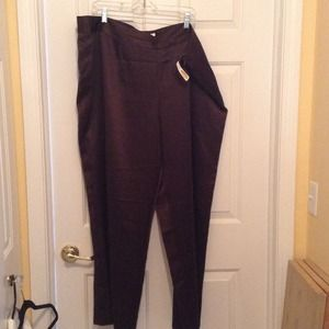 Brown 100% silk 24W pants from Talbots