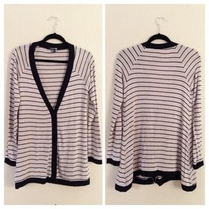 Forever 21 Brown & Black Striped Cardigan