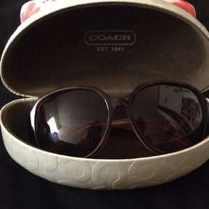 coach sunglasses+case!- new