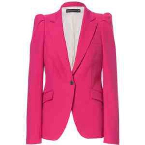 586d63b6d8c4d ZARA Pink Puff Sleeve Blazer