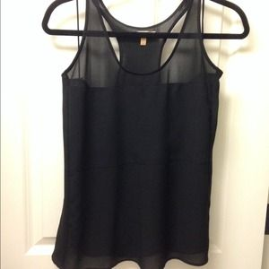 Zara TRF Racerback Sheer Top Tank
