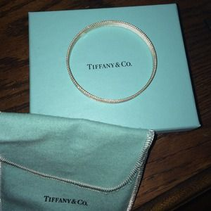 Tiffany & Co Sterling Silver Somerset Bangle