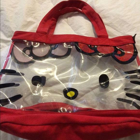 7fe5a0dc2808 Hello Kitty Handbags - Hello kitty clear tote