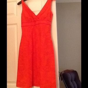 NWT LILLY PULITZER ORANGE PAISLEY SHIFT DRESS. S 2