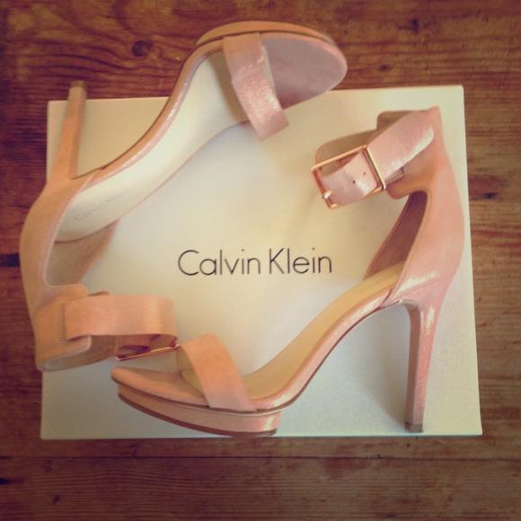 6a71f58f8a0f Calvin Klein Shoes - Calvin Klein Rose Gold Vivian Heels