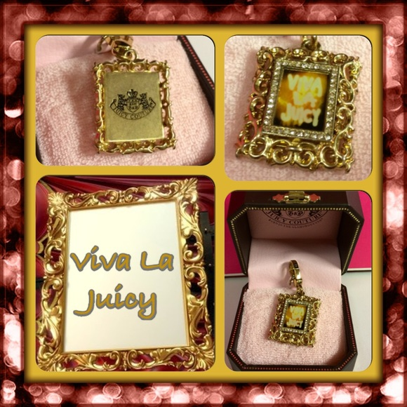 Juicy Couture Jewelry | Pave Viva Picture Frame Charm | Poshmark