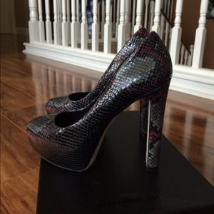 B Brian Atwood Shoes - Brian atwood Black Croc pumps