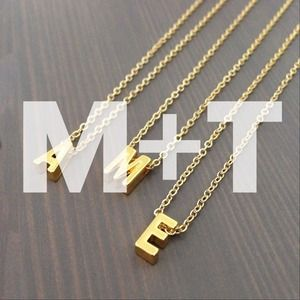 gnomesjoyclub Jewelry - Bundle M + T Necklaces / 24k Gold-Plated Chain