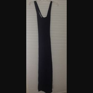 Black maxi dress with lace on bottom adorable!!