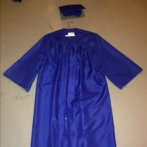 Dresses | Royal Blue Graduation Cap And Gown | Poshmark