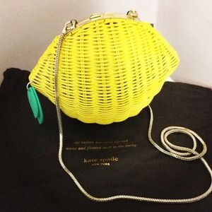 kate spade Handbags - Kate Spade Lemon Wicker clutch
